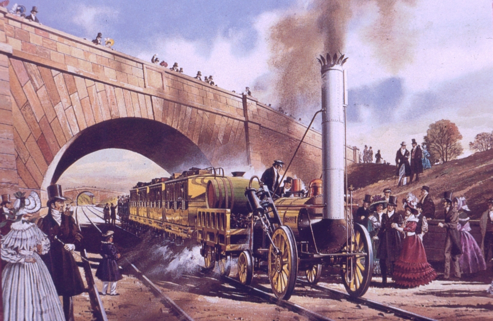 Opening of Liverpool-Manchester Railway