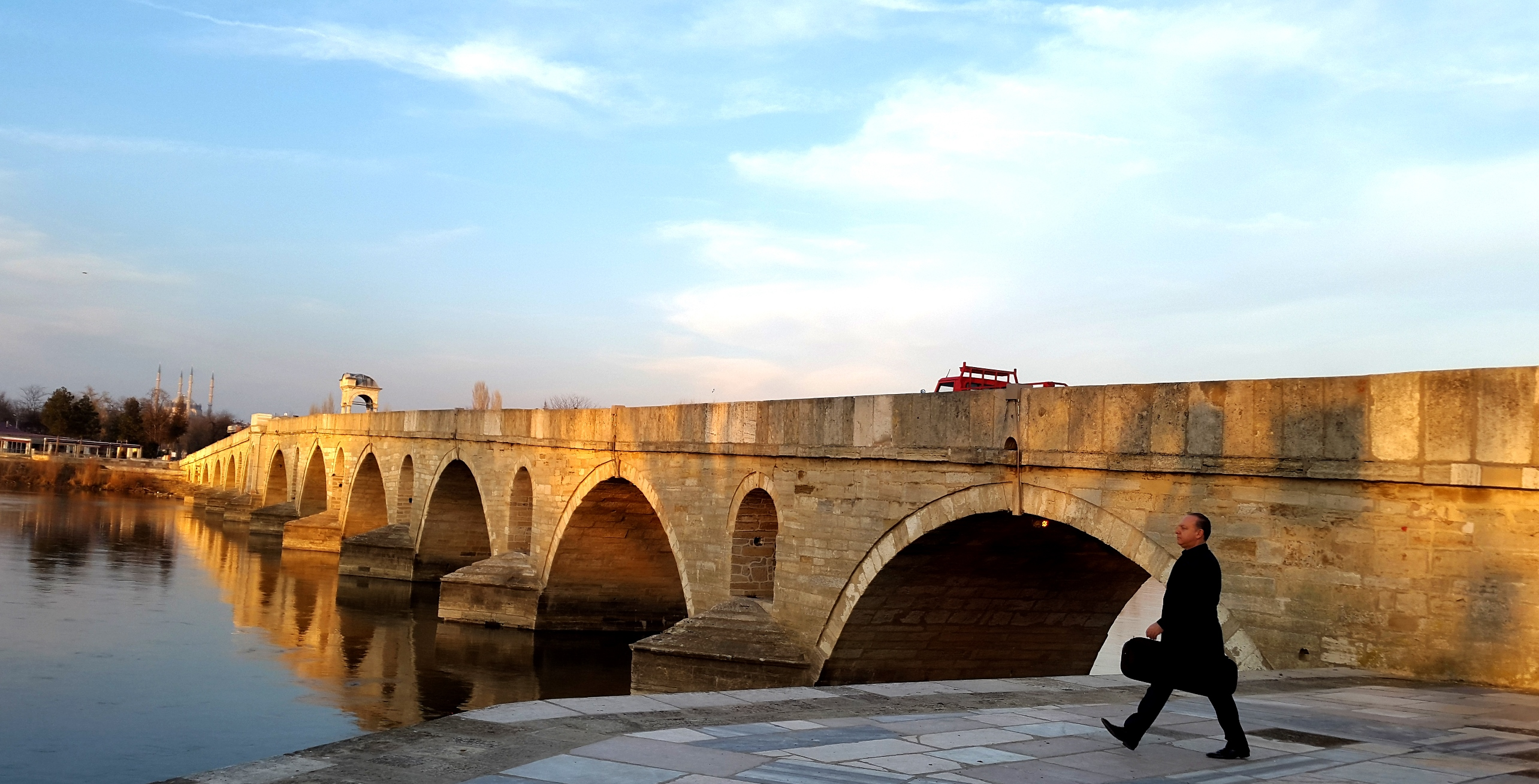 Bridge across River Meriç, Edirne