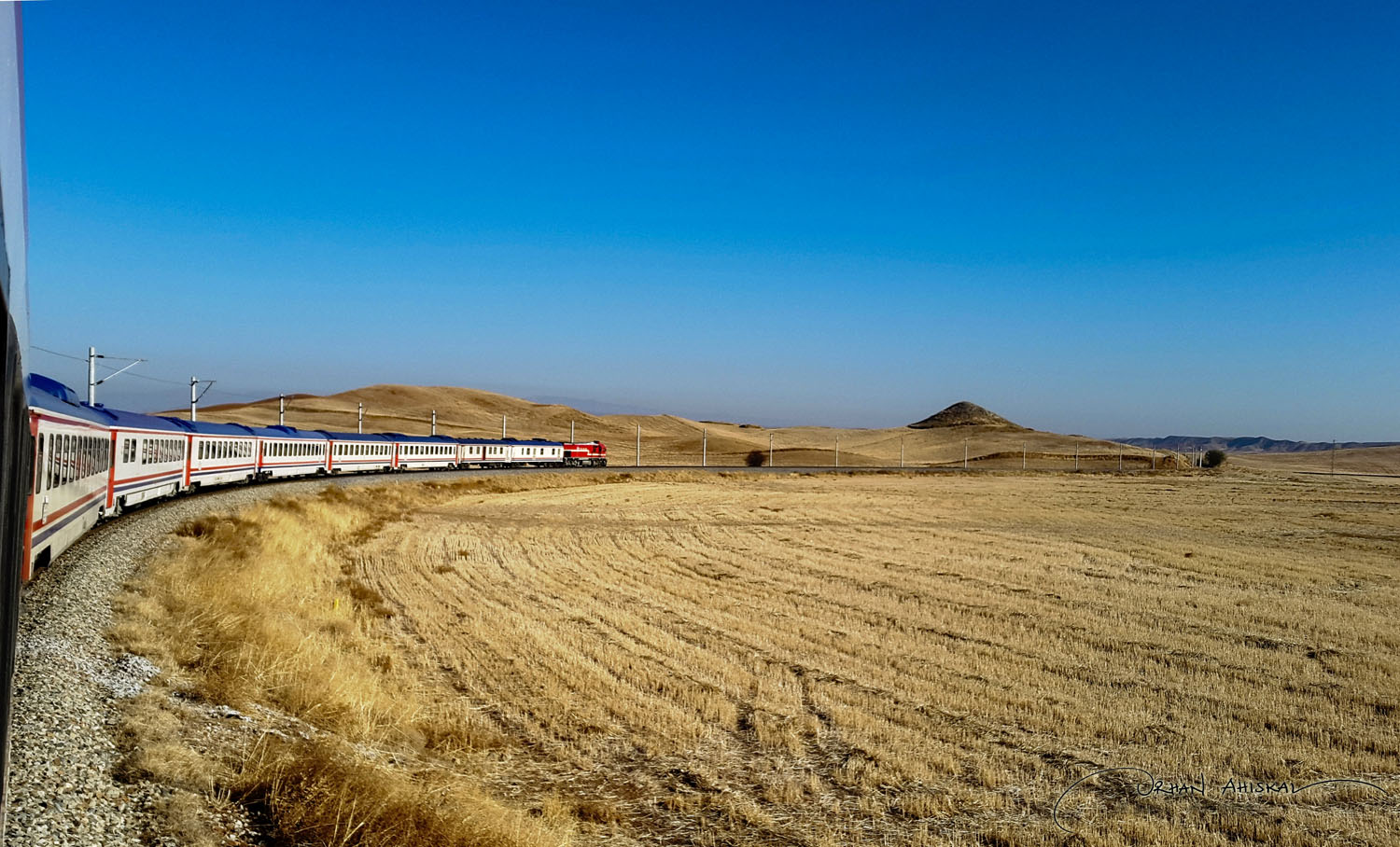 Anatolian steppes between Kırıkkale and Kayseri. Photo: Orhan Ahıskal