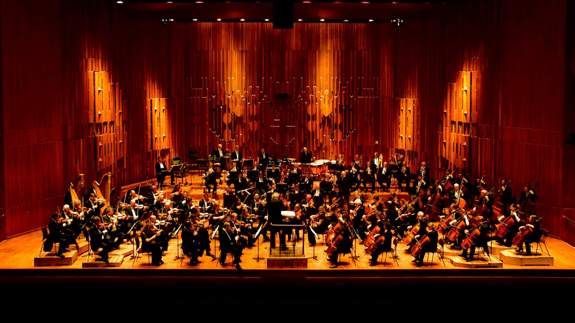 Bir senfoni orkestrası