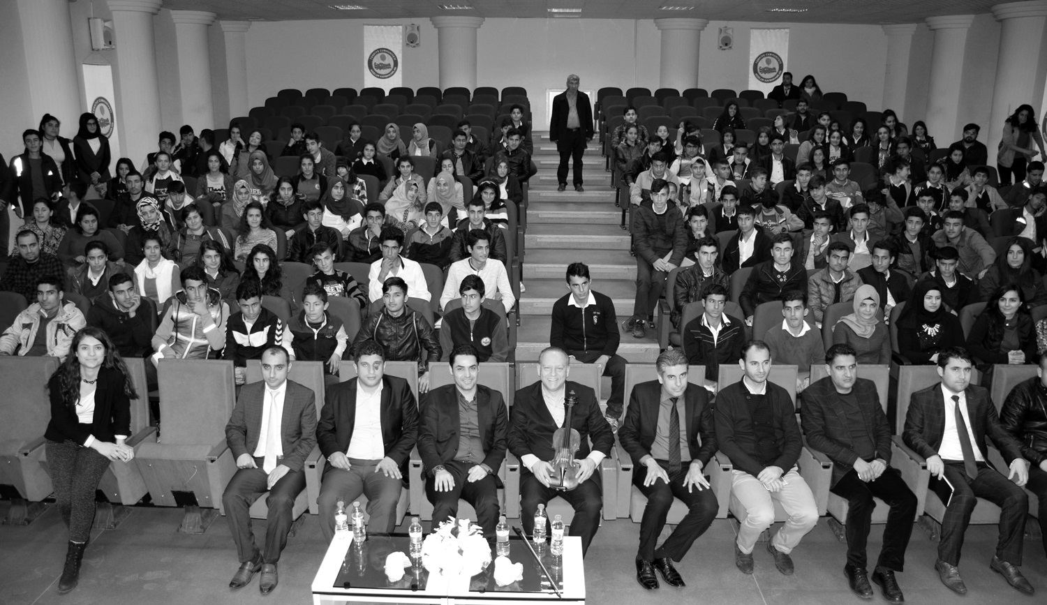 17 March 2017 Lecture-Recital, Kaymakamlık, Kozluk (Aybüke on the far left)