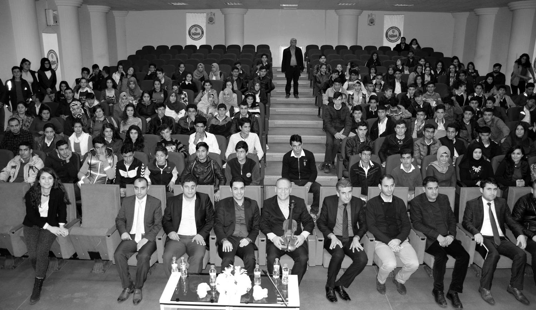 17 March 2017 Lecture-Recital, Kaymakamlık, Kozluk (Aybüke on the far left)