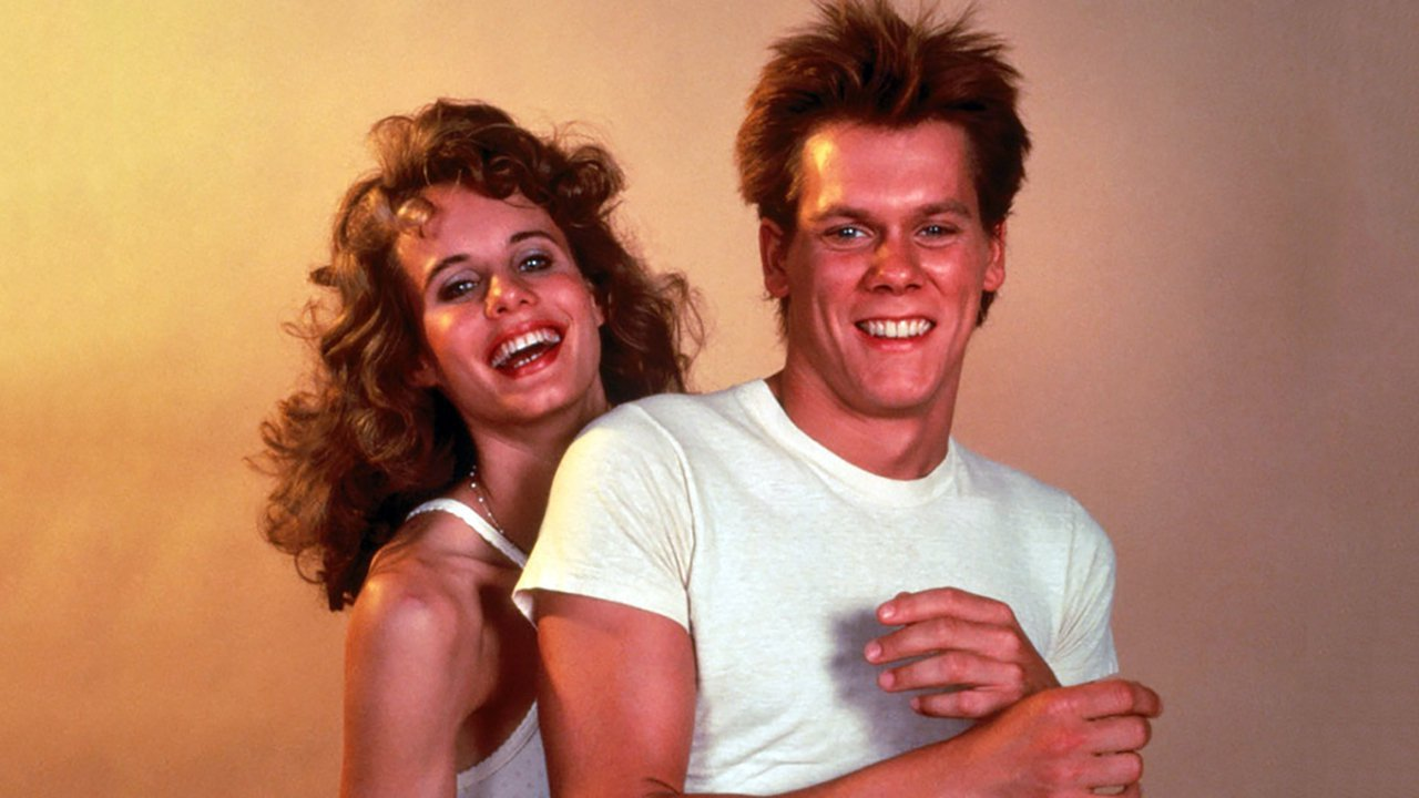 Lori Singer and Kevin Bacon in Footloose, 1984